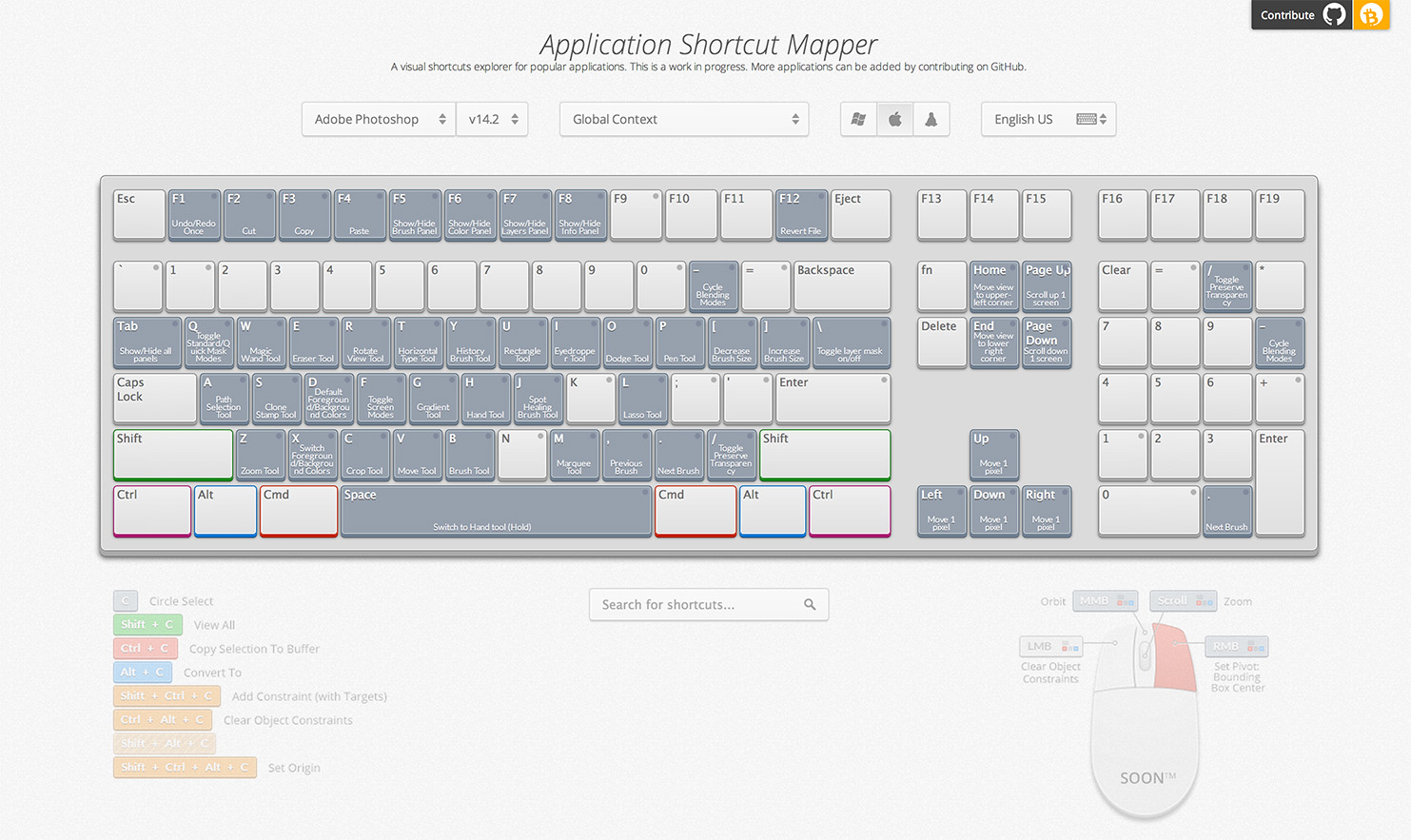 ShortcutMapper - Keyboard Shortcuts for Popular Apps